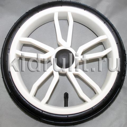 Колесо для детской коляски №025028 надув 12 дюймов 60х230 (без тормозной шестеренки) Цвет: БЕЛЫЙ
