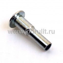 Заклепка полупустотелая комбинированная диаметр 6/5мм, длина 9,5/12,5мм №020004