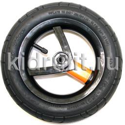 Колесо для детской коляски №026028 надув 10 дюймов (54-152) 10х2,0 (Adamex, BeBe-Mobile) ЧЕРНЫЙ-ОРАНЖЕВЫЙ