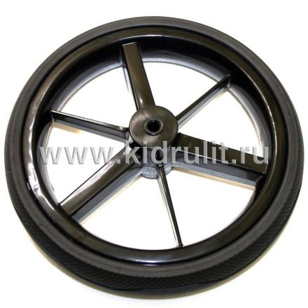 Колесо для детской коляски №034002 не надув 10 дюймов (Adamex) (втулка на ось 8мм) Цвет: ЧЕРНЫЙ