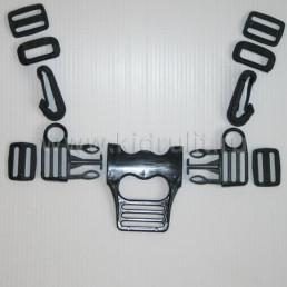 Фастекс для пятиточечных ремней  с карабинами №002007