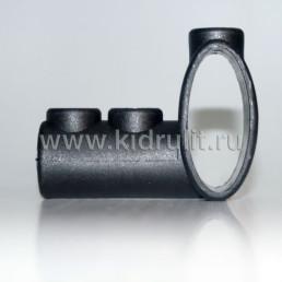 Тройник круг 16мм - овал 19/44 мм №002093