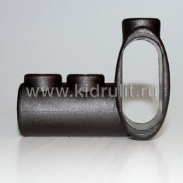 Тройник круг 16мм - овал 18/40 мм №002094