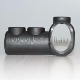 Тройник круг 16мм - овал 20/30 мм №002095