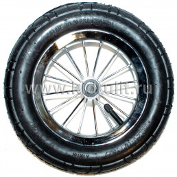 Колесо для детской коляски №003058 металл надув 10дюймов без вилки 54-152 10х2,0 (втулка на ось 8мм)