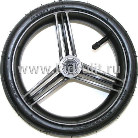 Колесо для детской коляски №022076 надув 10 дюймов (48х188) (втулка на ось 8 мм) Bebetto (Бебетто) Цвет: ГРАФИТ С ЧЕРНЫМИ ПОЛОСКАМИ