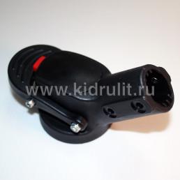 Крепление поворотного колеса №005058 ось12мм, труба 20мм