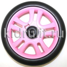 Колесо для детской коляски №005097 не надув, наружный диаметр 163 мм, на ось 8мм Цвет: РОЗОВЫЙ