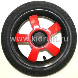 Колесо для детской коляски №006017-RE надув 12дюймов (280-65) КРАСНЫЙ (CAMARELO, INDIGO, CAMILA)
