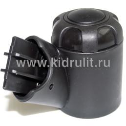 Крепление поворотного колеса №001054M (без резинового уплотнителя) на ось 10мм, (труба овал 42/22мм)