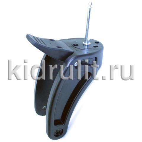Вилка переднего колеса №001297 ось d=10мм, l=77мм для детской коляски С ТОРМОЗОМ