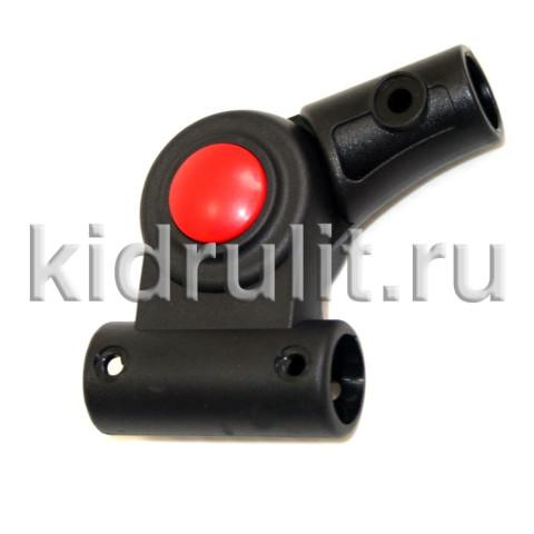 Шарнир регулирования капюшона №001301 (Tutis) круг-круг 16-16мм (левый - с черной кнопкой  без фиксации; правый - с красной кнопкой с фиксацией)