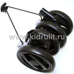 Колесо для детской коляски (задние колесные блоки в сборе)  №031017 не надувное 7 дюймов Peg-perego PLIKO P3