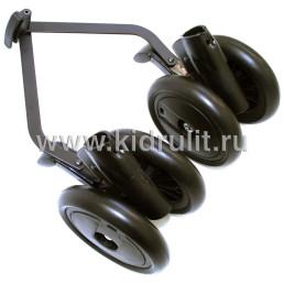 Колесо для детской коляски (задние колесные блоки в сборе) №031045 не надувное 6 дюймов Peg-perego PLIKO MINI